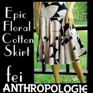 ▪️ANTHRO▪FEI▪Retro Cotton Floral Full Skirt